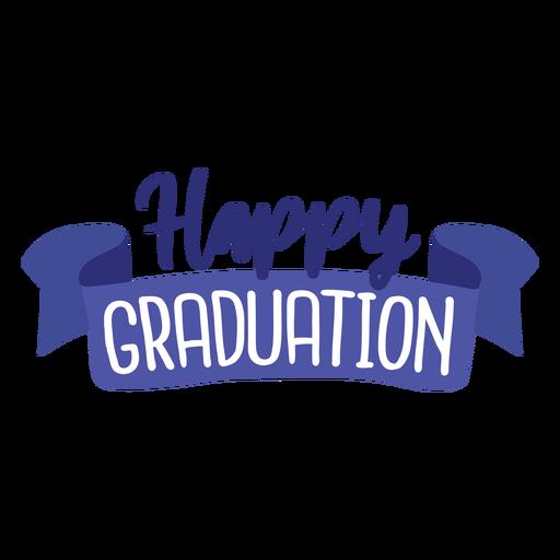 Happy graduation ribbon sticker Transparent PNG
