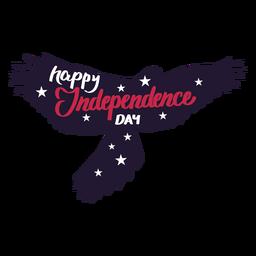 Etiqueta feliz da estrela da asa da águia do Dia da Independência
