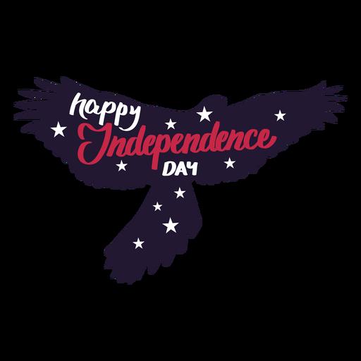 Etiqueta feliz da estrela da asa da águia do Dia da Independência Transparent PNG