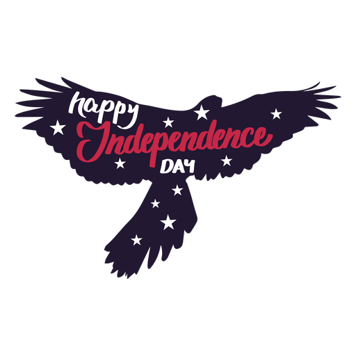 Happy independence day eagle wing star sticker Transparent PNG