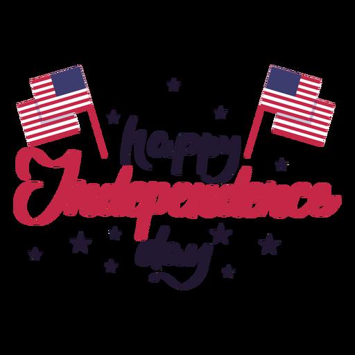 Feliz dia da independência bandeira estrela eua adesivo Transparent PNG