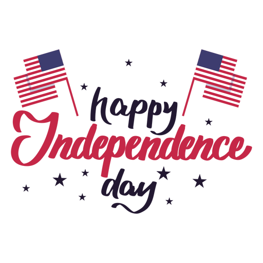Happy independence day flag star usa sticker Transparent PNG