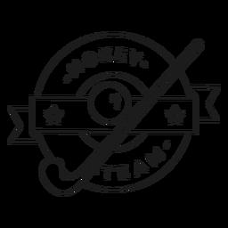 Hockey team stick ball badge stroke