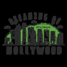 Autocolante de horizonte de Hollywood