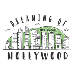 Hollywood skyline sticker
