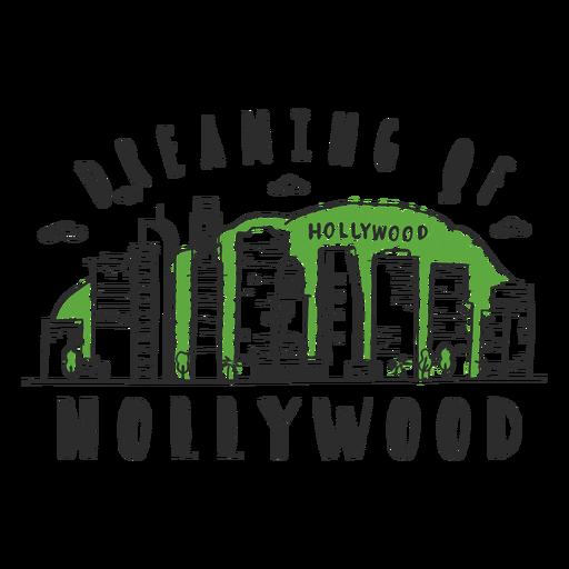Hollywood skyline sticker
