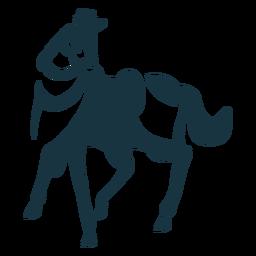 Cavalo rabo casco juba sela silhueta detalhada