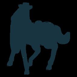 Pferdeschwanz Huf Mähne Sattel Silhouette
