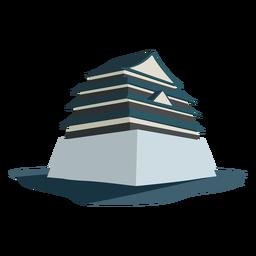 Ilustração do telhado da base da fundação da construção de casa