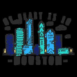 Etiqueta engomada del horizonte de Houston