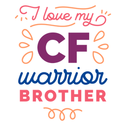 I love my cf warrior brother curl badge sticker