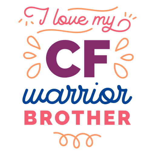I love my cf warrior brother curl badge sticker Transparent PNG