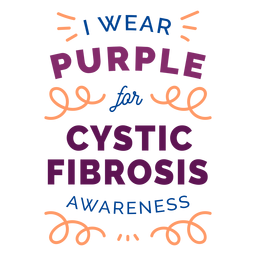 I wear purple for cystic fibrosis awareness curl badge sticker