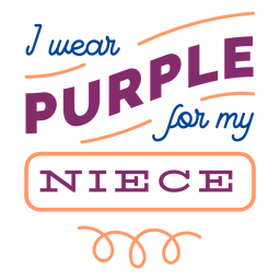 I wear purple for my niece curl badge sticker