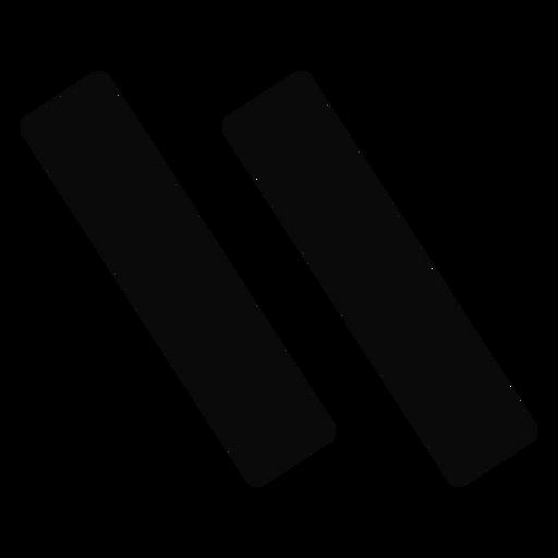 I pair trait silhouette Transparent PNG