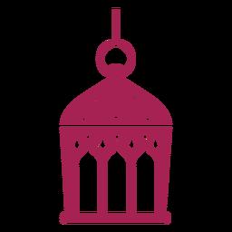 Icono lámpara lámpara gota detallada silueta