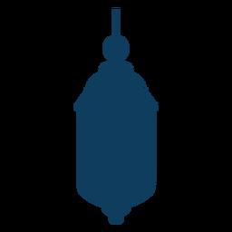 Silhueta de lâmpada de ícone