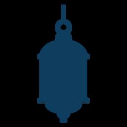 Silhueta de lâmpada de anel da lâmpada de ícone