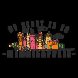 Autocolante de skyline de Indiapolis