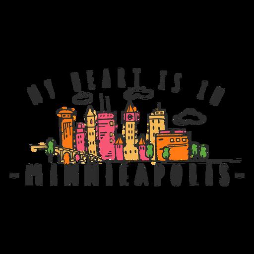 Indiapolis skyline sticker