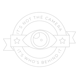 It's not the camera it's who's behind it eye lens objective star badge line