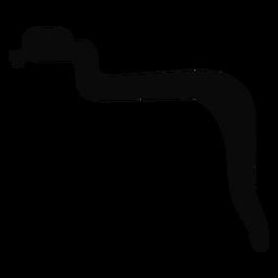 Silueta de lengua bifurcada de serpiente j