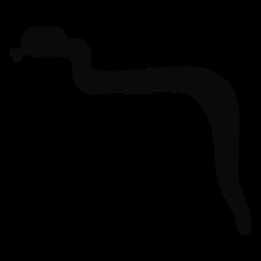 J serpenteia silhueta de língua bifurcada Transparent PNG