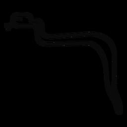 Lengua bifurcada J serpiente