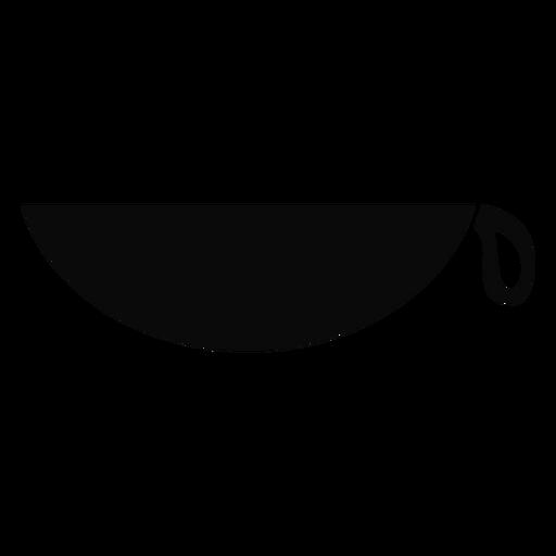 Silhueta detalhada da bacia do copo da cesta de K Transparent PNG