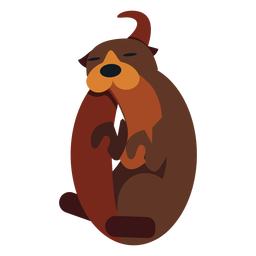 Kalan fur muzzle tail rounded flat