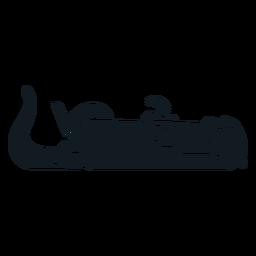 Silhueta detalhada focinho de cauda de pele Kalan