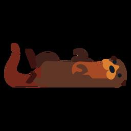 Pele da cauda do focinho Kalan arredondada