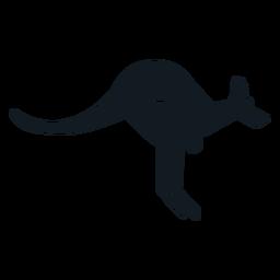 Canguru orelha cauda focinho malote silhueta detalhada