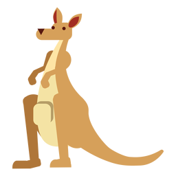 Bolsa de boca de oreja de canguro redondeada plana