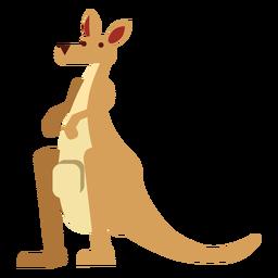 Bolsa de focinho de orelha de canguru arredondada plana