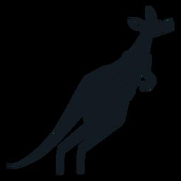 Canguru cauda focinho bolsa de ouvido silhueta detalhada