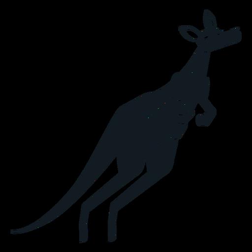 Canguru cauda focinho bolsa de ouvido silhueta detalhada Transparent PNG