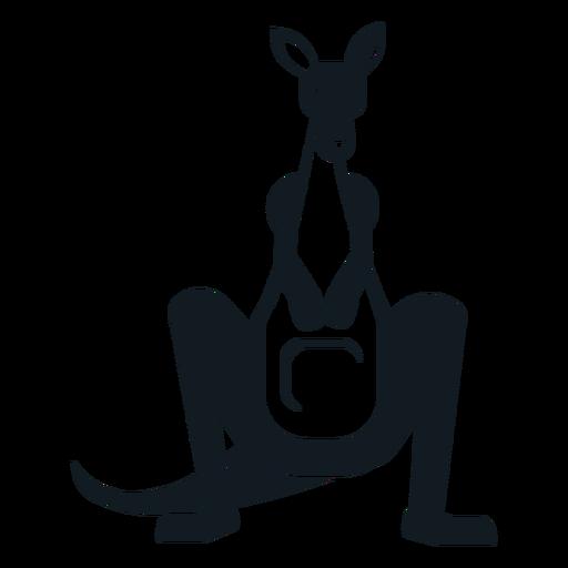 Silhueta detalhada da orelha da bolsa do açaime da cauda do canguru Transparent PNG