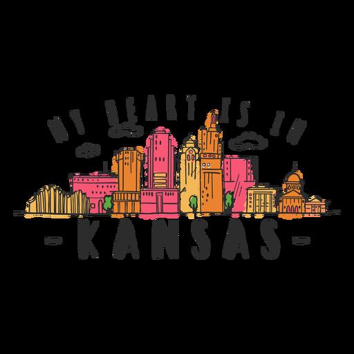 Etiqueta engomada del horizonte de Kansas Transparent PNG