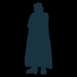 Silhueta de manto de coroa de espada de rei