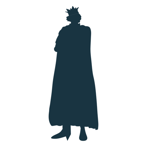 King sword crown mantle silhouette Transparent PNG