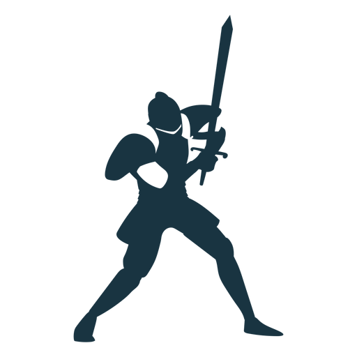 Knight plate armor sword detailed silhouette