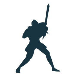Ritter Rüstung Schwert Silhouette