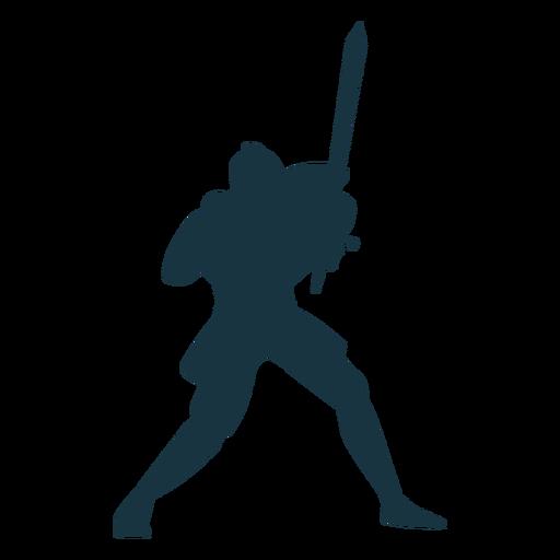 Caballero placa armadura espada silueta Transparent PNG