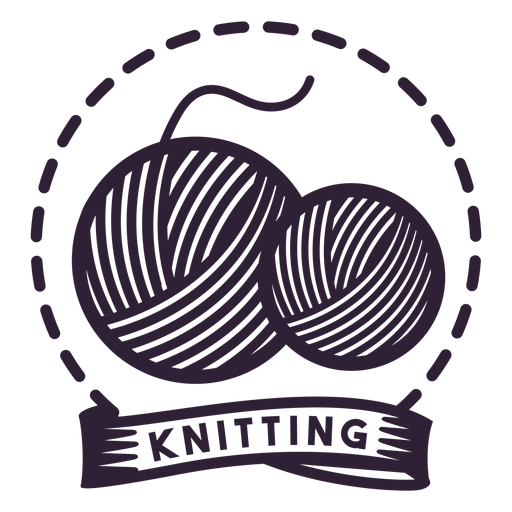 Knitting Clew Thread Yarn Badge Sticker Transparent Png Svg Vector File
