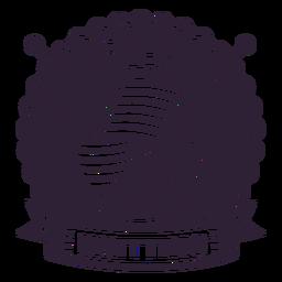 Knitting knitting needle badge sticker