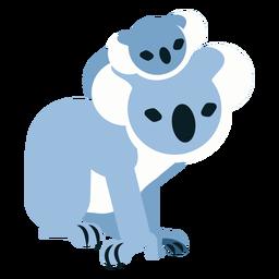 Koala garra oreja nariz bebé koala redondeada plana
