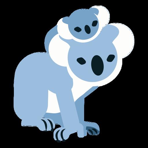 Koala claw ear nose baby koala rounded flat Transparent PNG