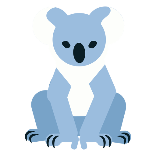 Koala claw ear nose rounded flat Transparent PNG