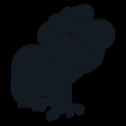 Koala garra ouvido nariz árvore silhueta detalhada